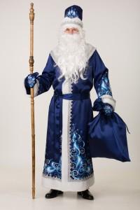 Дед Мороз сатин (син.) - 5351