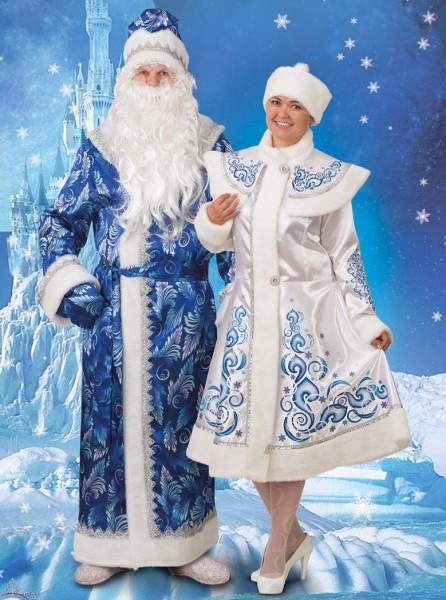 Дед Мороз сатин принт  194