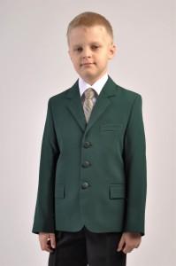 Пиджак зеленый для мальчика. Зеленый габардин.