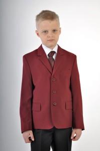 Пиджак зеленый для мальчика. Бордовый габардин.